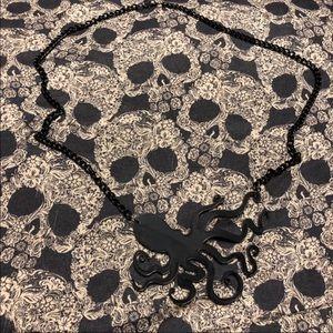 Black octopus necklace